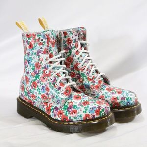 Rare DR. MARTENS Pascal Wild Poppy Boots